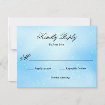 Baby Blue Quinceanera RSVP Card