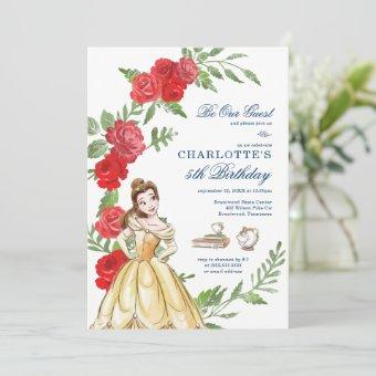 Be Our Guest Belle Birthday Invitation