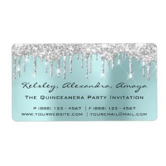 Drips Silver  Bridal Sweet 16th Quinceanera VIP Label