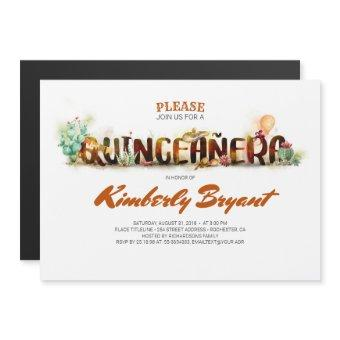 MEXICAN QUINCEANERA 15TH BIRTHDAY MAGNETIC INVITATION