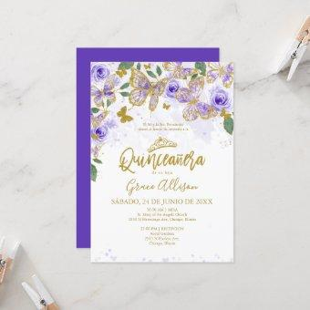 Quinceanera Butterfly Invitation Spanish Wording