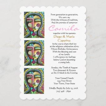 Quinceanera Virgin of Guadalupe PROTECTION Invitation