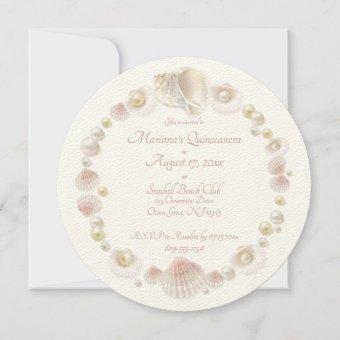 Round Under the Sea Quinceanera Party Seashells