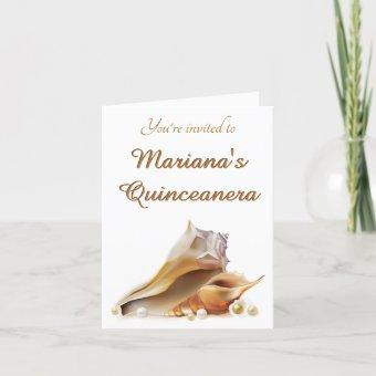 Under the Sea Quinceanera Party Folded Card