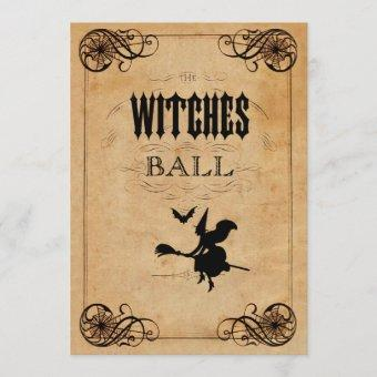 Vintage Witches Ball Quinceañera Double Sided Invitation